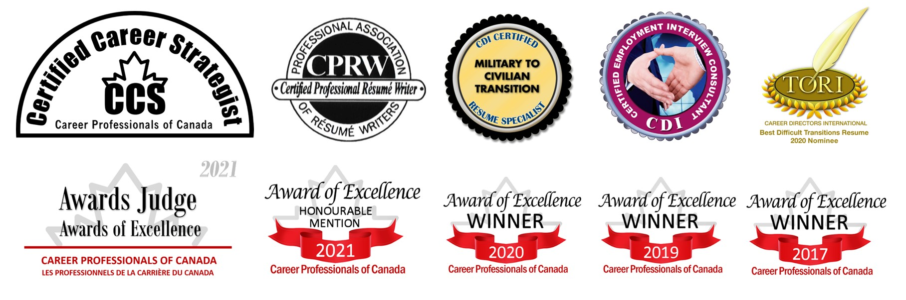 Image displaying 4 certifications and 6 awards and nominations.